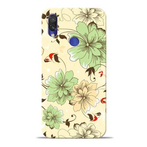 Floral Design Xiaomi Redmi Note 7 Pro Mobile Cover