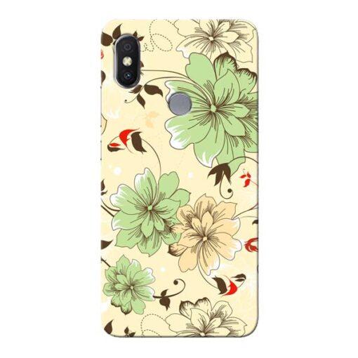 Floral Design Xiaomi Redmi Y2 Mobile Cover