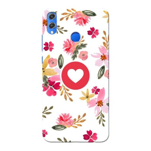 Floral Heart Honor 8X Mobile Cover