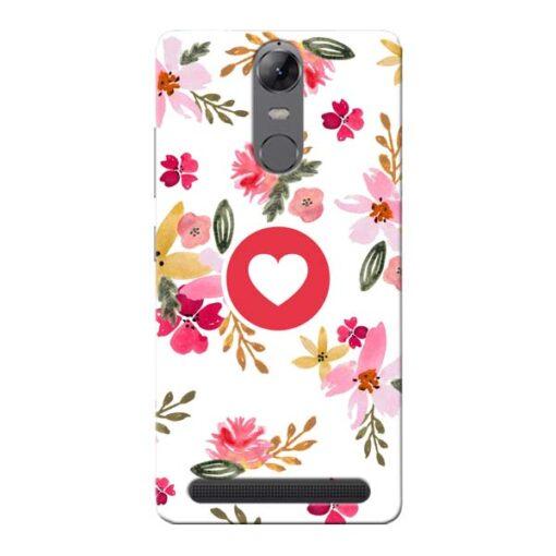 Floral Heart Lenovo Vibe K5 Note Mobile Cover