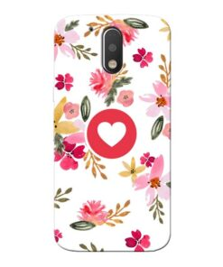 Floral Heart Moto G4 Mobile Cover