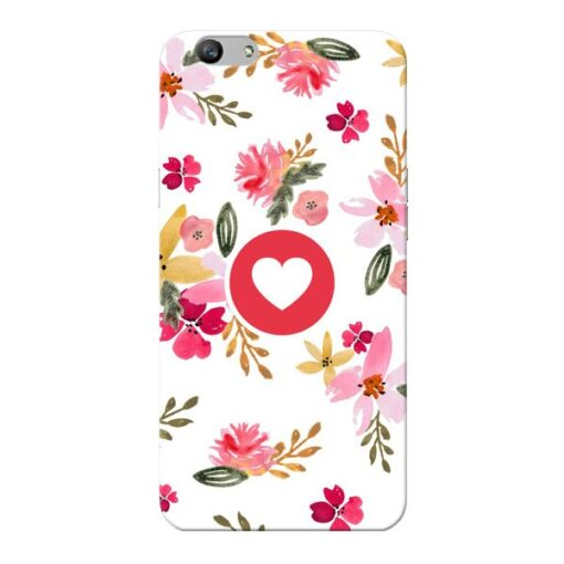 Floral Heart Oppo F1s Mobile Cover