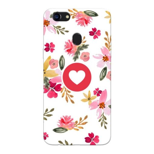 Floral Heart Oppo F5 Mobile Cover
