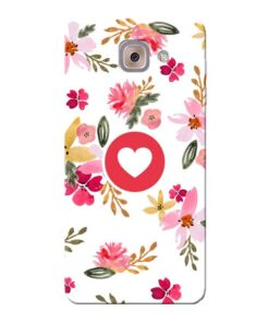 Floral Heart Samsung Galaxy J7 Max Mobile Cover