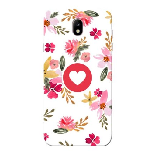 Floral Heart Samsung Galaxy J7 Pro Mobile Cover