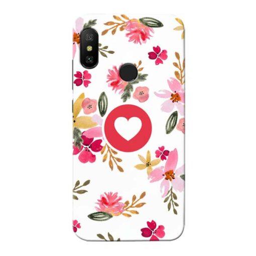 Floral Heart Xiaomi Redmi 6 Pro Mobile Cover