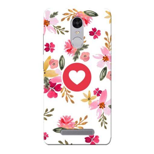 Floral Heart Xiaomi Redmi Note 3 Mobile Cover