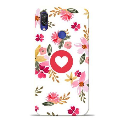 Floral Heart Xiaomi Redmi Note 7 Mobile Cover