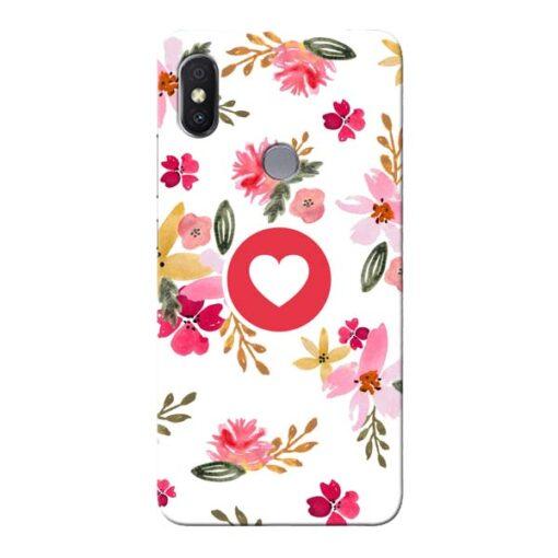 Floral Heart Xiaomi Redmi Y2 Mobile Cover