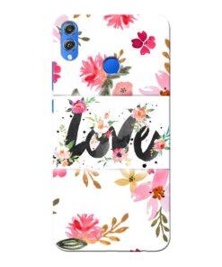 Flower Love Honor 8X Mobile Cover