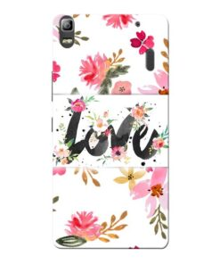 Flower Love Lenovo K3 Note Mobile Cover