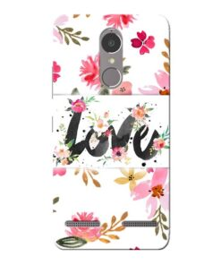 Flower Love Lenovo K6 Power Mobile Cover