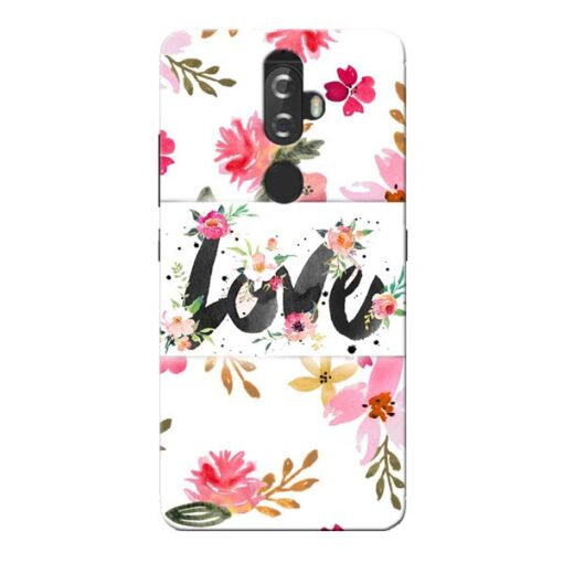 Flower Love Lenovo K8 Plus Mobile Cover