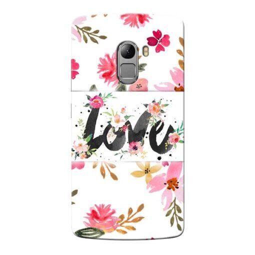Flower Love Lenovo Vibe K4 Note Mobile Cover