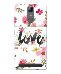 Flower Love Lenovo Vibe K5 Note Mobile Cover