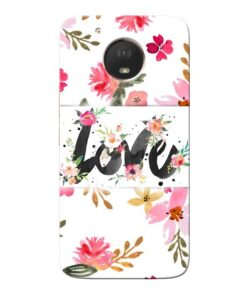 Flower Love Moto E4 Plus Mobile Cover