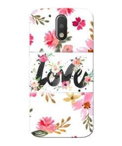 Flower Love Moto G4 Plus Mobile Cover