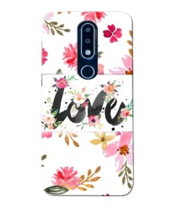 Flower Love Nokia 6.1 Plus Mobile Cover