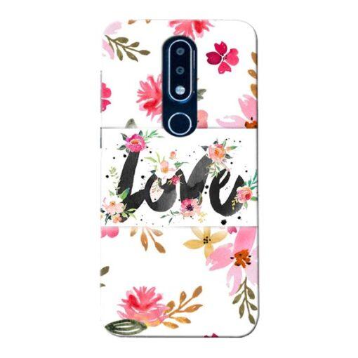 Flower Love Nokia 6.1 Plus Mobile Cover