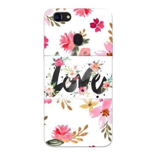 Flower Love Oppo F5 Mobile Cover