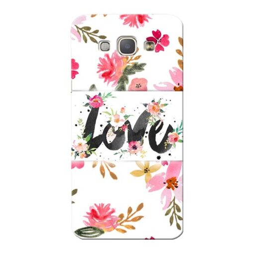Flower Love Samsung Galaxy A8 2015 Mobile Cover