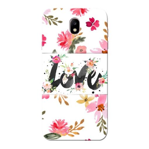 Flower Love Samsung Galaxy J7 Pro Mobile Cover