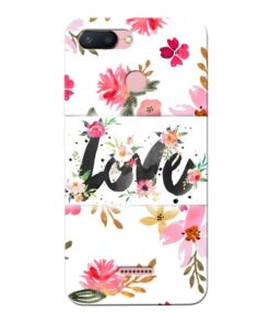 Flower Love Xiaomi Redmi 6 Mobile Cover