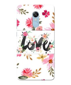 Flower Love Xiaomi Redmi Note 4 Mobile Cover