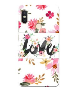 Flower Love Xiaomi Redmi Note 5 Pro Mobile Cover