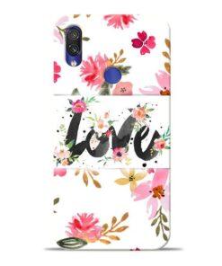 Flower Love Xiaomi Redmi Note 7 Mobile Cover