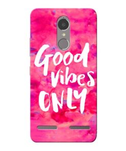 Good Vibes Lenovo K6 Power Mobile Cover