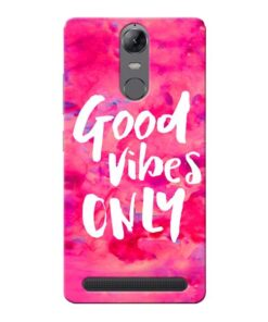 Good Vibes Lenovo Vibe K5 Note Mobile Cover