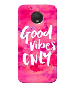 Good Vibes Moto E4 Plus Mobile Cover
