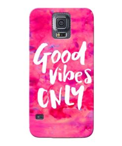 Good Vibes Samsung Galaxy S5 Mobile Cover