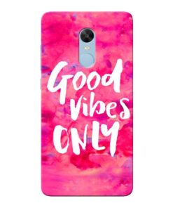 Good Vibes Xiaomi Redmi Note 4 Mobile Cover