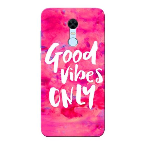 Good Vibes Xiaomi Redmi Note 5 Mobile Cover