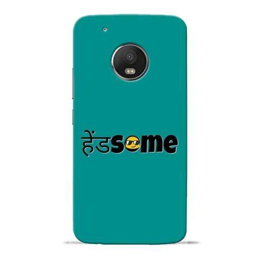 Handsome Smile Moto G5 Plus Mobile Cover