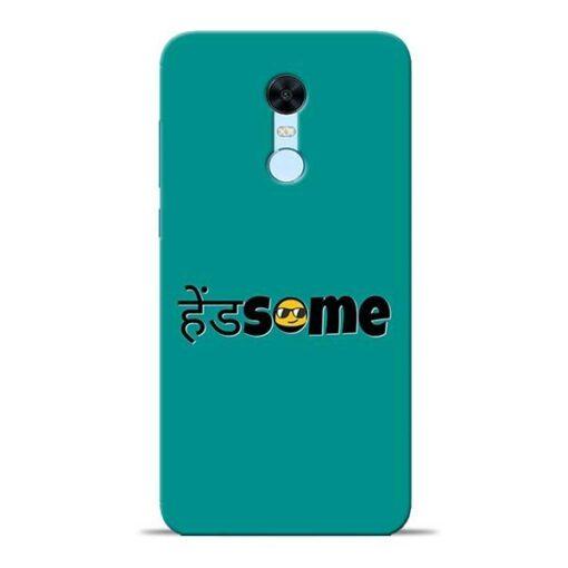 Handsome Smile Redmi Note 5 Mobile Cover