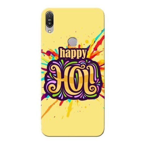 Happy Holi Asus Zenfone Max Pro M1 Mobile Cover