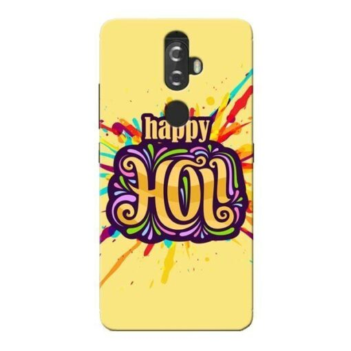 Happy Holi Lenovo K8 Plus Mobile Cover
