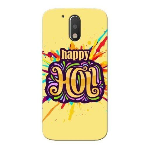 Happy Holi Moto G4 Plus Mobile Cover