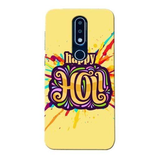 Happy Holi Nokia 6.1 Plus Mobile Cover