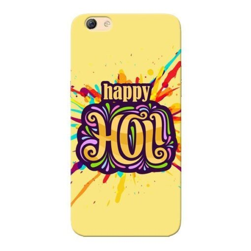 Happy Holi Oppo F3 Mobile Cover