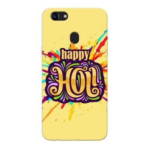 Happy Holi Oppo F5 Mobile Cover