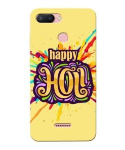 Happy Holi Xiaomi Redmi 6 Mobile Cover