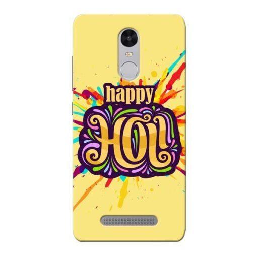 Happy Holi Xiaomi Redmi Note 3 Mobile Cover