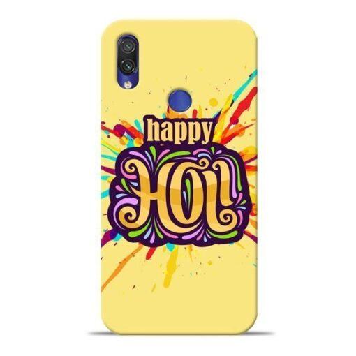 Happy Holi Xiaomi Redmi Note 7 Pro Mobile Cover