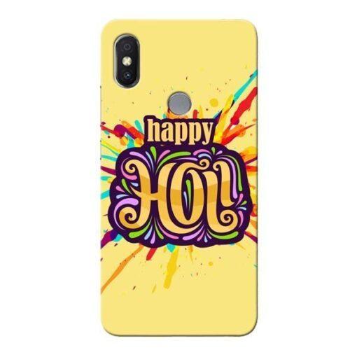 Happy Holi Xiaomi Redmi S2 Mobile Cover