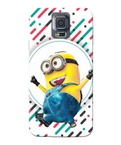 Happy Minion Samsung Galaxy S5 Mobile Cover