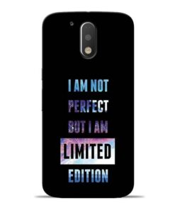 I Am Not Perfect Moto G4 Plus Mobile Cover